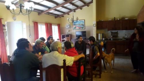 La sede Pilar alberga a 22 personas de diferentes provincias de la Argentina.